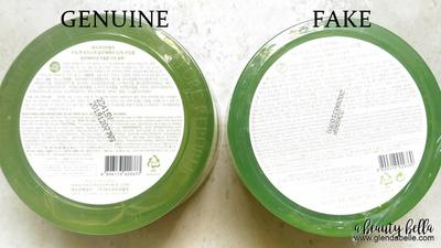 Nature Republic Aloe Vera Tampak Bawah Asli vs Palsu